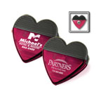 Promotional Housewares - Heart Magnetic Clip