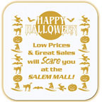 Promotional Jar Openers - Happy Halloween Jumbo Square Jar Opener