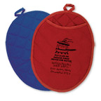 Promotional New Products - Therma-Grip Oval Oven Mitt/Pot Holder