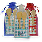 Promotional Kitchen Products - Chef's Pocket Oven Mitt Bamboo Combo