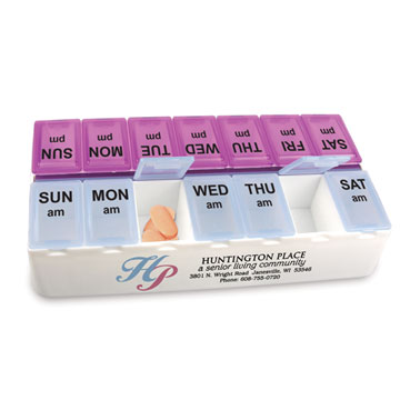 Daily Reminder 7-Day Medicine Tray